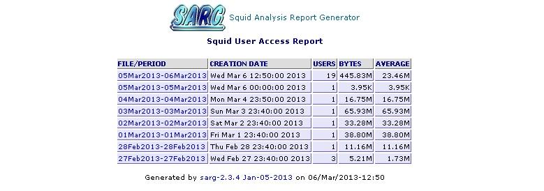 Sarg позволяет анализировать и предоставлять отчеты на основе логов Squid.
