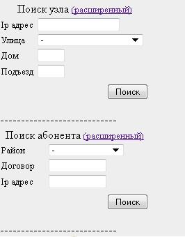 NetK. Поиск узлов и абонентов.